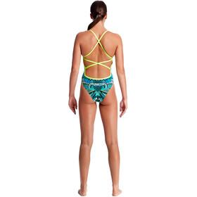 Funkita Strapped In One Piece Strój kąpielowy Kobiety turkusowy